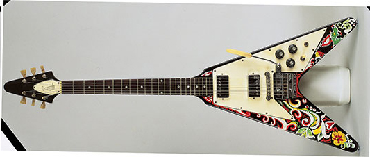 Jimi Hendrix's Hand Painted Gibson Flying 'V' Electric Guitar